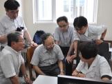 日本中医学会会长平马直树一行到成都市第一人民医院都江堰医院参观访问