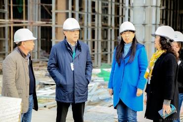 赵聪院长实地督查医院三期项目建设推进情况