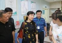 国家卫健委医政医管局马渝组长一行来到市中西医结合医院调研