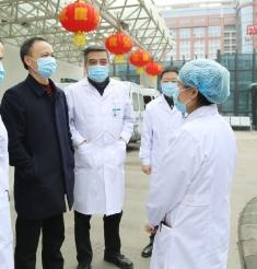 市卫健委贾勇副主任一行对市一医院开展节后医疗质量安全和疫情防控工作现场督查