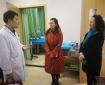 成都中医药大学杨静副校长一行到市中西医结合医院看望慰问