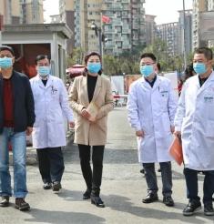 四川省中医药管理局机关党委书记方清到成都市中西医结合医院调研
